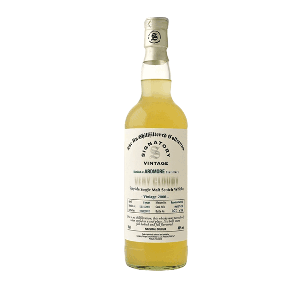 Ardmore Very Cloudy  2008 - Single Grain Scotch Whisky 40%